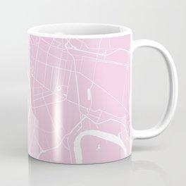 Bangkok Thailand Minimal Street Map - Pastel Pink and White Coffee Mug