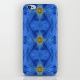 Divine Diamond Morning Glory Blues iPhone Skin