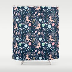 Unicorns in Hesperides Shower Curtain