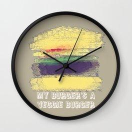 Veggie Burger  Wall Clock