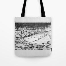 Snowy Vineyard Tote Bag