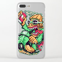 GREEN - Scooter Clear iPhone Case