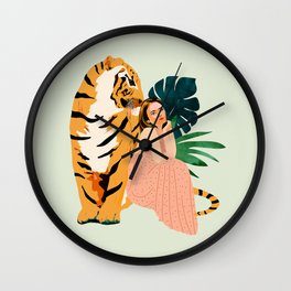 Tiger Spirit Wall Clock