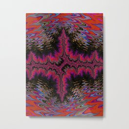 Purple Electricity Abstract Metal Print