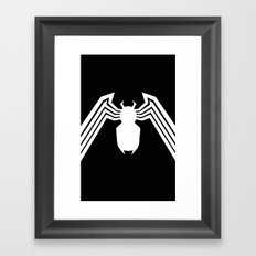 Symbiote Spider man Framed Art Print