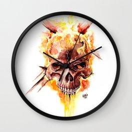Ghost Rider Skull Wall Clock