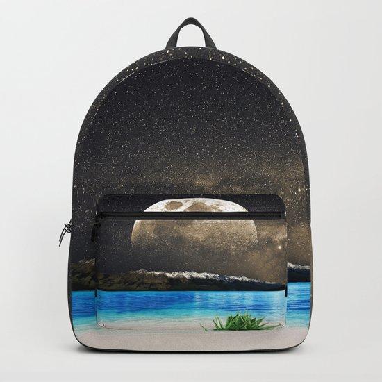 Aloe Vera Moon Beach Backpack