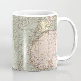 Vintage Atlantic Ocean Navagational Map (1905) Coffee Mug