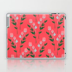 Tiny Rose Pattern - Coral Laptop & iPad Skin