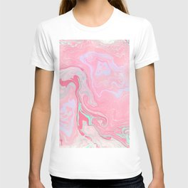 Marbled Effect with Pink T-shirt