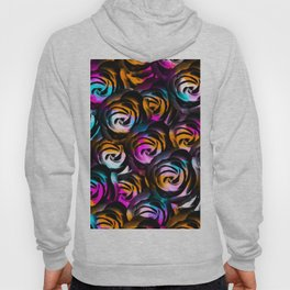 black rose texture abstract with painting abstract in orange pink blue Hoody