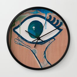 Evil Eye & Henna Hand Wall Clock
