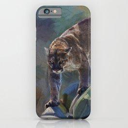 The Mountain King - Cougar Wildlife Art iPhone Case
