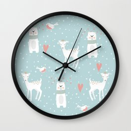 Fawn and Bear Wall Clock