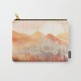 Forest Shrouded in Morning Mist Carry-All Pouch