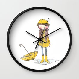 Time for Rain (white background) Wall Clock