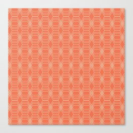 hopscotch-hex tangerine Canvas Print