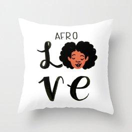 Afro Love Throw Pillow