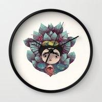 frida Wall Clocks featuring frida by yohan sacre