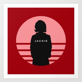 Jackie - 89th Academy Awards Illustration Art Print