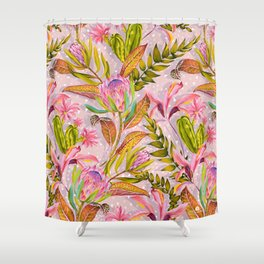 Botanical love pattern Shower Curtain