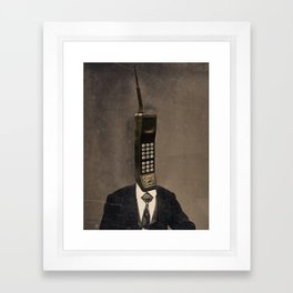 Faces of the Past: Cellular Framed Art Print