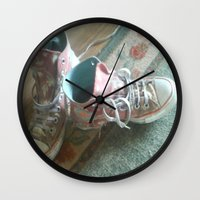 converse Wall Clocks featuring Converse by Beatrice