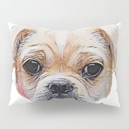 Dog Chug Crossbreed intentionally bred recognizedpurebred ancestors little Pillow Sham