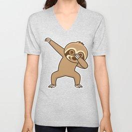 Sloth dab Unisex V-Neck