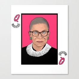 Queen of Dissent Canvas Print