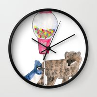 regular show Wall Clocks featuring Regular Show by Hard Lily