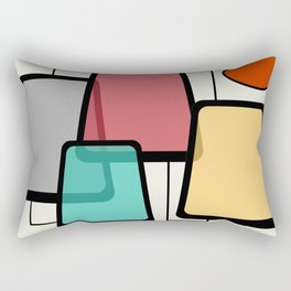 Mid-Century Modern Art Landscape 1.1 Rectangular Pillow