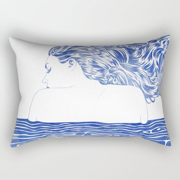Water Nymph LXII Rectangular Pillow