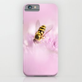 Hoverfly on Allium - Onion Flower 2 iPhone Case