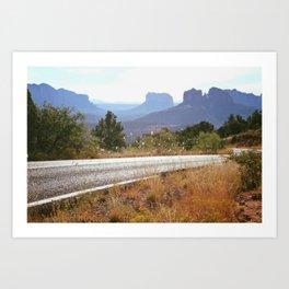 Valley of Red Rocks Art Print