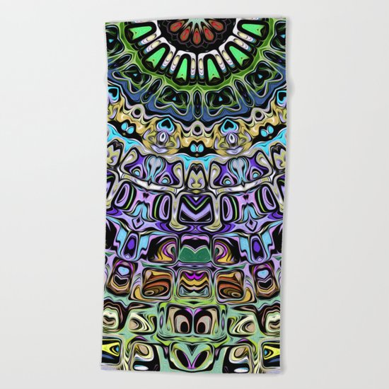 Abstract Spectral Sun Beach Towel
