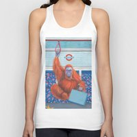 frank Tank Tops featuring Frank by Sarah Underwood Illustration