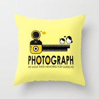photograph Throw Pillows featuring PHOTOGRAPH by Ain Rusli
