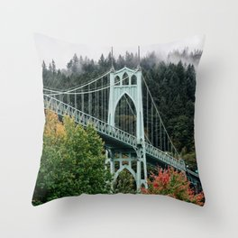 St. John's Bridge Throw Pillow
