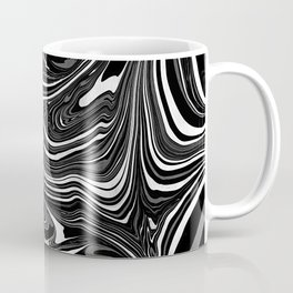 Black White Grey Marble Coffee Mug