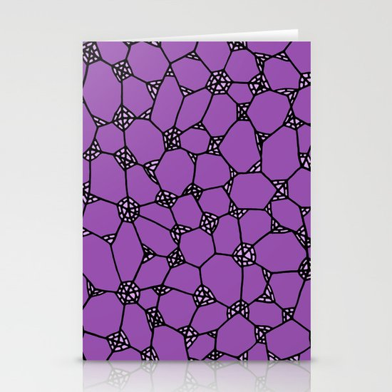 Yzor pattern 006-3 kitai lilac Stationery Cards