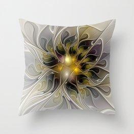 Abstract Beauty, Modern Fractals Art Throw Pillow
