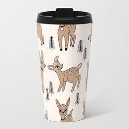 Reindeer vintage style cute rudolph the red nosed reindeer pattern Travel Mug
