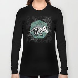 Triceratops Fossil Long Sleeve T-shirt
