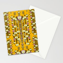 Rain showers in the rain forest of bloom and decorative liana Stationery Cards