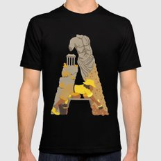 A as Archaeologist Black LARGE Mens Fitted Tee