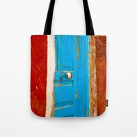 door Tote Bags featuring Door by Maite Pons