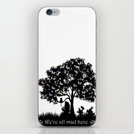 We're All Mad Here III - Alice In Wonderland Silhouette Art iPhone Skin