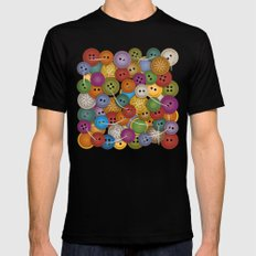 Buttons MEDIUM Mens Fitted Tee Black