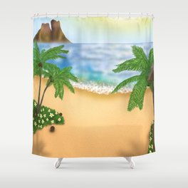"""""""Welcome to Polynesian Paradise"""" Shower Curtain"""